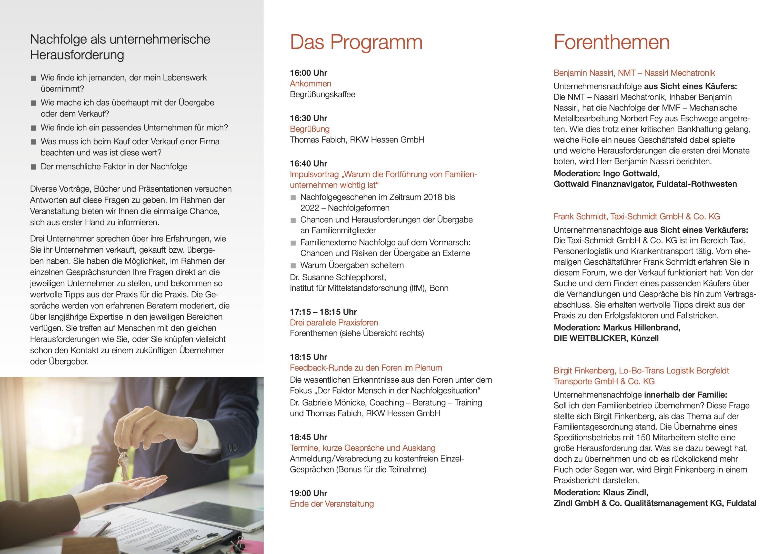Das Programm der Veranstaltung